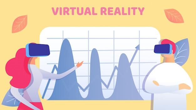Coworking em ilustração vetorial de realidade virtual