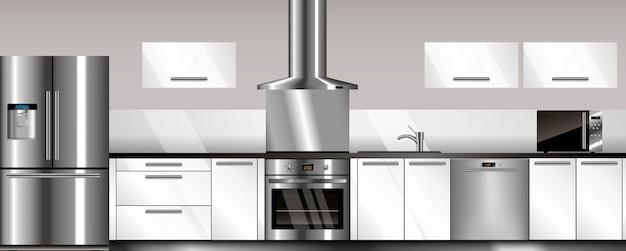 Cozinha moderna de vetor