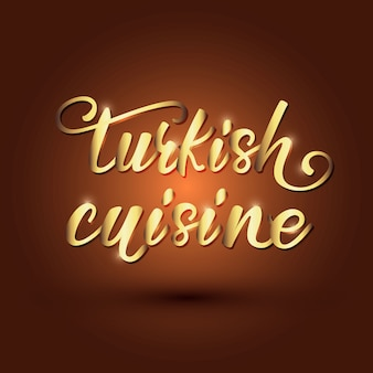 Cozinha turca rotulação banner design