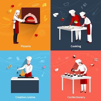 Cozinhando conjunto plano