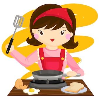 Cozinhando mãe