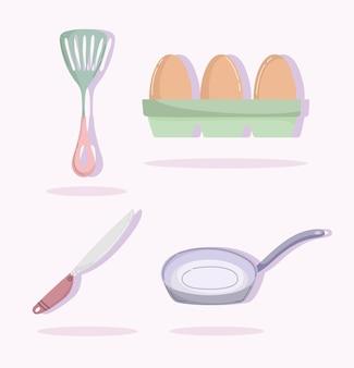 Cozinhando para utensílios