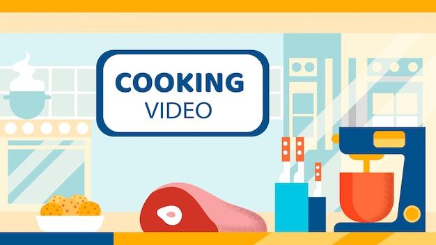 Cozinhando vídeo blog