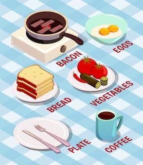 Cozinhar alimentos isométrico