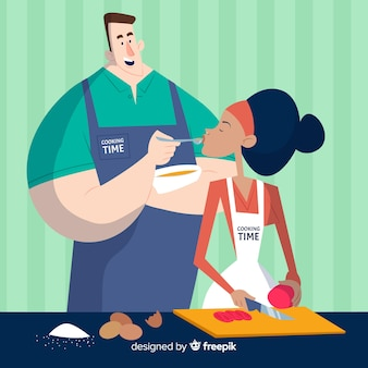 Cozinhar casal