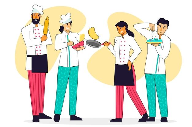 Cozinhar o conceito de coleção
