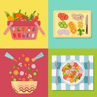 Cozinhar salada