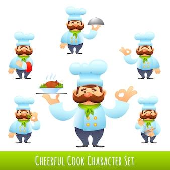 Cozinheiro, caricatura, caráteres