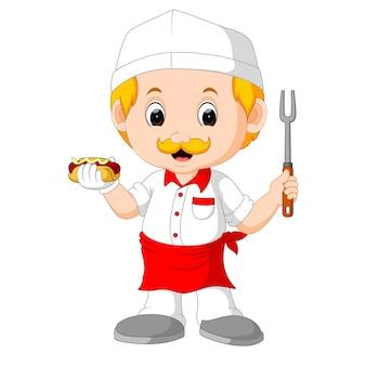 Cozinheiro chefe engraçado bonito dos desenhos animados