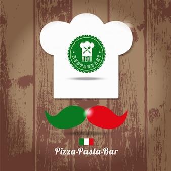 Cozinheiro italiano chefe