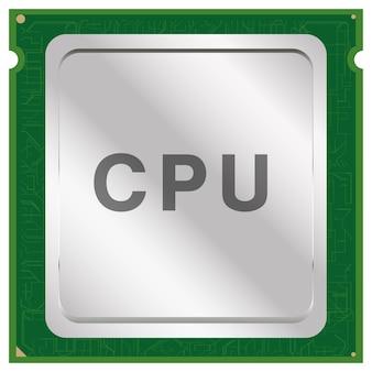 Cpu ou vetor de chip da unidade de processamento central