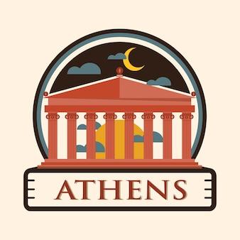 Crachá da cidade de atenas, grécia