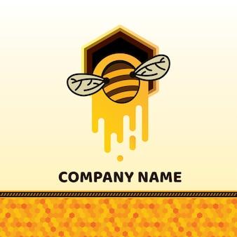 Crachá de abelha e etiqueta