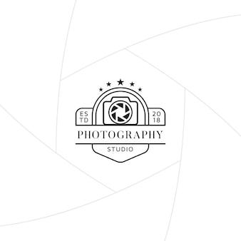 Crachá de estúdio de fotografia ou design de rótulo