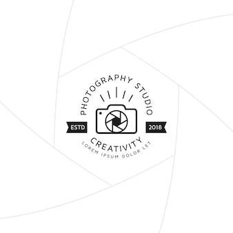 Crachá de fotografia criativa ou design de rótulo