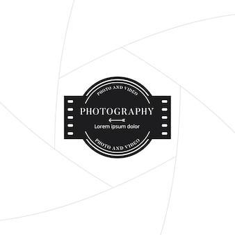 Crachá de fotografia e filme ou design de rótulo