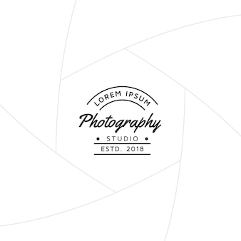 Crachá de fotografia ou design de rótulo