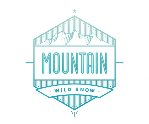 Crachá de logotipo para projeto criativo