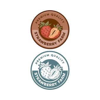 Crachá de morango com qualidade premium, produto retro vintage
