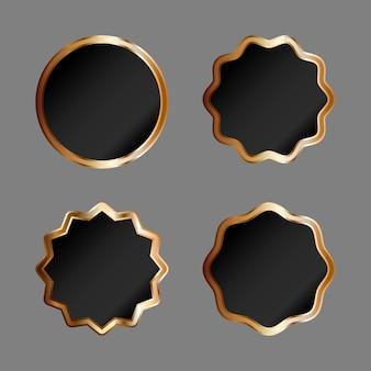 Crachá de ouro ou etiquetas. design elegante