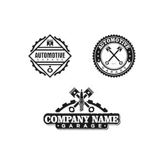 Crachá de serviço de carros antigos e modelo de logotipo
