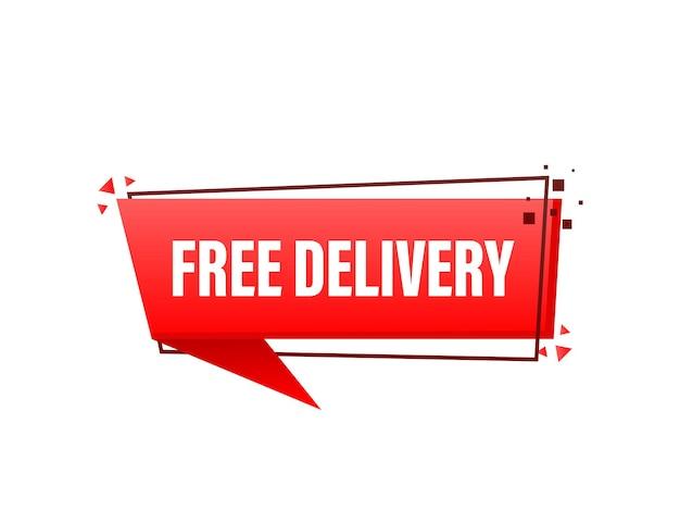 Crachá de serviço de entrega gratuita