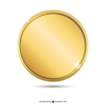 Crachá dourado vazio