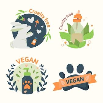 Crachás de crueldade contra animais e veganos