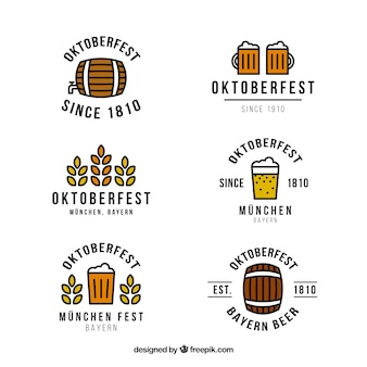 Crachás de festival de cerveja oktoberfest