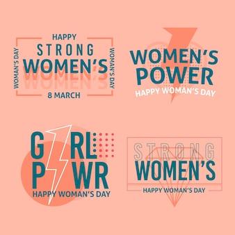 Crachás do dia internacional da mulher