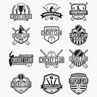 Crachás e emblemas do clube de críquete
