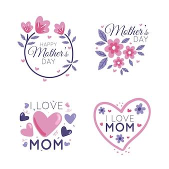 Crachás para coleção internacional do dia das mães