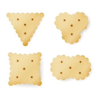 Cracker em diferentes formas
