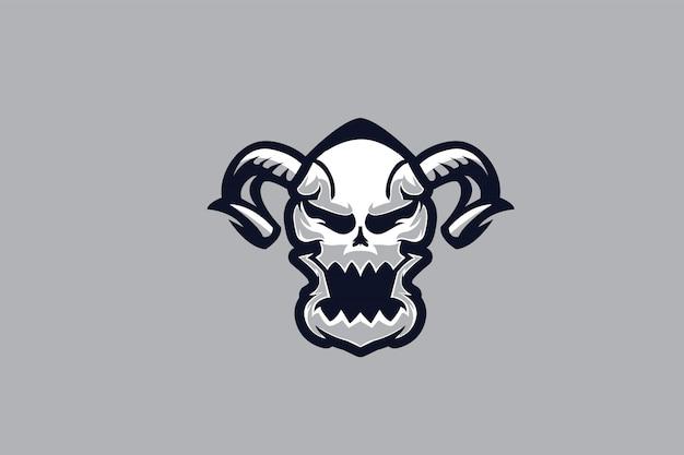 Crânio branco clip-art para o logotipo de esports