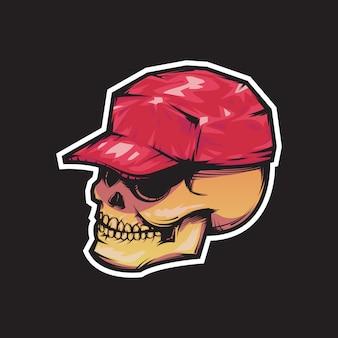 Crânio com chapéu
