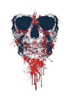 Crânio com sangue