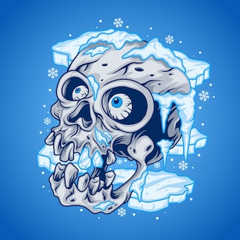 Crânio congelado