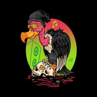 Crânio de abutre