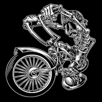 Crânio de bicicleta de piloto baixo