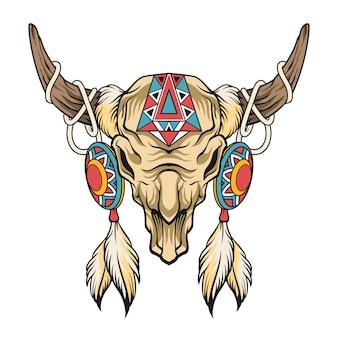 Crânio de búfalo. arte