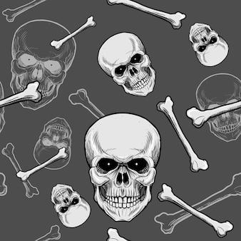 Crânio de cabeça padrão sem emenda