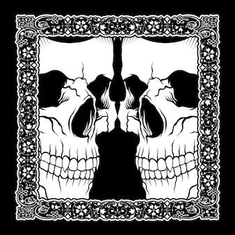 Crânio de ilustração vetorial