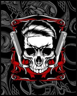 Crânio de loja de barbeiro