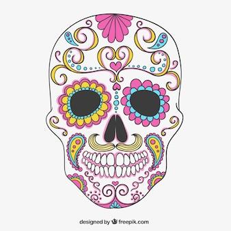 Crânio do açúcar colorido