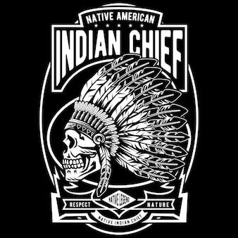 Crânio do chefe indiano