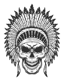 Crânio do índio americano
