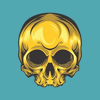 Crânio dourado