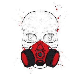Crânio em um respirador.