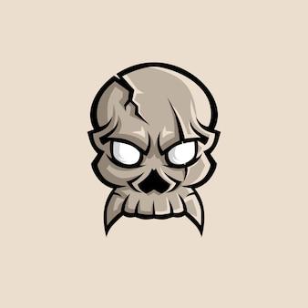 Crânio esports logo ilustração