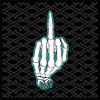 Crânio foda mão dedo